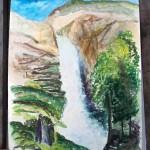 Водопад Куркуре. Картина с пленэра. Автор Валерия