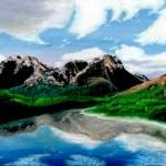 Правополушарная живопись в СОТВОРИ СЕБЯ. Оксана Мальцева, первый пейзаж