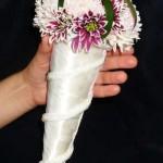 Букет невесты в рожке. Юлия. Школа СОТВОРИ СЕБЯ