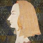 Портрет эпохи возрождения.Текстильный коллаж. Маргарита Емельянова