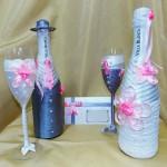 """Свадебный набор: шампанское, фужеры, пригласительное. Школа """"Сотвори Себя"""""""