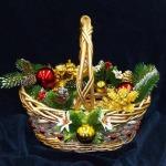 Корзинка для подарков новогодняя золотая