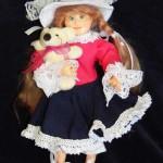 Павла. Кукла авторская из полимерной глины