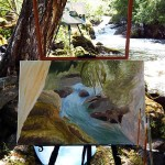 Водопад Ачылман. Пленэры на Алтае