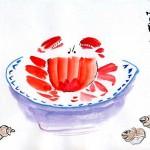 Китайская живопись У-Син, крабик