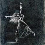 Правополушарная живопись с Школе Творчества Татьяны Шам. Балерина. Лилия Панькина.
