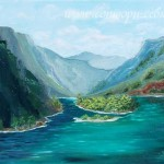 Река Чулышман. Картина маслом. Сидорова Нина