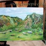 Долина реки Чулышман. Картина маслом. Автор Нина Сидорова