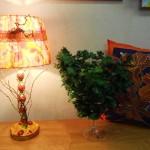 Лампа и подушка Батик