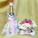 """Свадебная композиция на стол и шампанское """"невеста"""". Школа Творчества """"Сотвори Себя"""""""