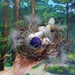 """Гнездо. Декупаж яиц. Школа Творчества """"Сотвори Себя"""""""