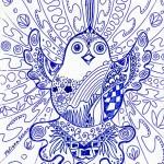 Дзен графика птица счастья СОТВОРИ СЕБЯ